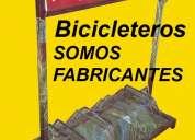 Cartel bicicletero con publicidad incluida