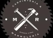 Marmolerías y carpinterias a domicilio
