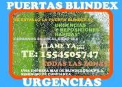 Blindex puerta blindex reparacion
