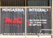 M&g express ,mensajeria en pilar bs as..