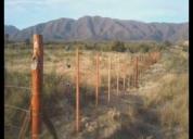 Se hacen alambrados para chacras y campos.contactarse., misiones