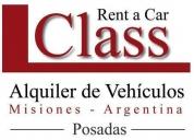Alquiler de autos y camionetas 4x4 rent a car, posadas