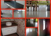 Microcemento, micropisos,en baños