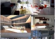 Renders - modelado 3d - planos arquitectónicos