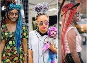 Trenzas brasileñas hechas con lana coloridas,contactarse