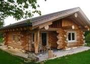Construccion de cabañas de tronco