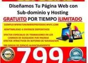 Oportunidad! paginas web exclusivas desde 799, cordoba