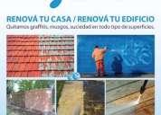 Limpieza de fachadas, graffitis, techos, pisos