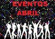 Eventos abril,organizaciÓn integral,contactarse.