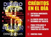 Creditos en el dia para usuarios de tarjetas de creditos