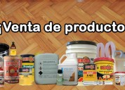 Productos para proteger a la madera, adhesivos, lacas y mucho más
