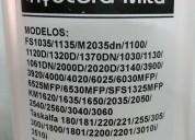 Tóner recarga kyocera fs 1030 1035 mfp/1130 1135 mfp ecosys m2030dn / m2035dn/p2135dn - 290gr