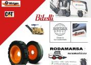 Fresadoras terminadoras de asfalto wirtgen ruedas cubiertas macizas rodamarsa
