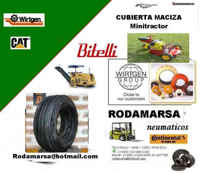 CUBIERTA maciza 400 x 8 400x8 MINITRACTOR rodamarsa autoelevadores