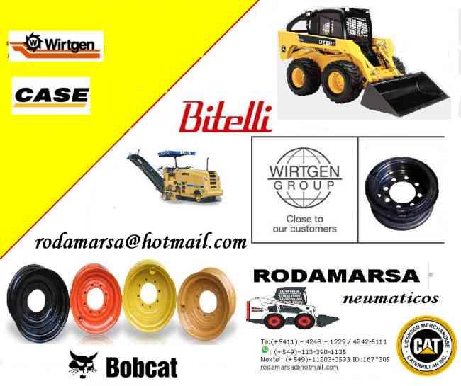 LLANTA 10X16.5 12X16.5 MINICARGADORA BOB CAT CASE CAT rodamarsa