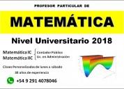 MatemÁtica (contador - lic. en administración)
