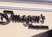 Letras corpóreas para salones eventos longchamps