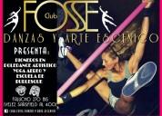 Pole dance artistico y burlesque en club fosse