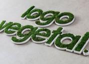 Letras con cesped en av. espora adrogue