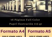 Impresión offset de revistas, folletos, catálogos