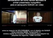Emprenda negocio de presentadores holograficos – n