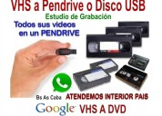 Vhs video a pendrive o disco rigido. t