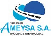 Ameysa s.a. - transportista nacional e internacion