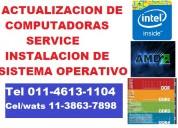 Actualización de computadoras. service.