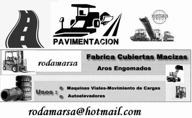RUEDAS FRESADORAS, AUTOELEVADORES Rodamarsa Vial
