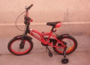 Bicicleta aurorita spiderman rod 16