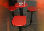 Bancos de madera y hierro con mesa y 3 asientos !!