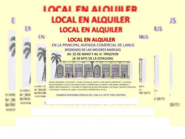 IMPONENTE LOCAL EN AV. COMERCIAL DE LANUS !