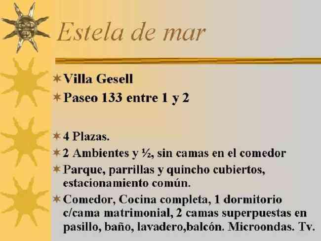 VILLA GESELL, 2 AMBIENTES, 4 PLAZAS en 133 y Av. 1