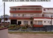 Villa gesell, 2 ambientes, 4 plazas en 128 y av. 1