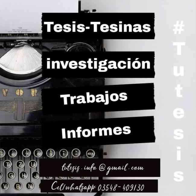 Tesis, Tesinas, Y Monografías Servicio De Tutoría