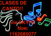 Clases de canto y piano via skype!!
