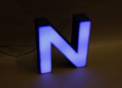 Letras de polifan con luces
