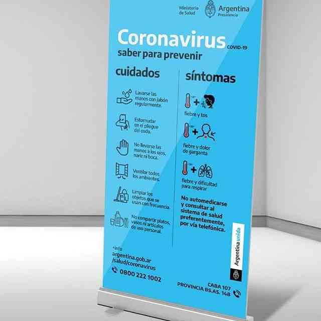 Carteles COVID para comercios Av. Gral San Martín