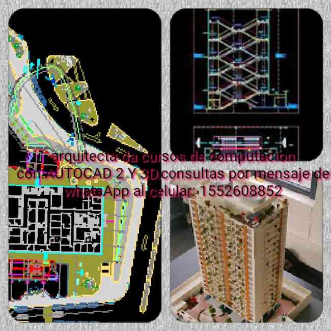 Arquitecta da cursos ONLINE de Autocad2y3d,Revit,.