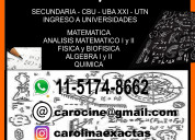Clases virtuales online. caba. matemat quimica fis