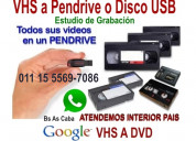 Vhs video a pen drive