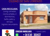 Vendo casa 2 dormitorios en san lorenzo santa fe