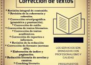 Corrección de textos. servicio profesional
