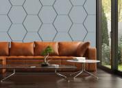 Paneles  hexa material   fonoabsorvente