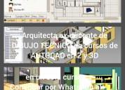 Arquitecta da cursos de revit 2 y 3d y ver
